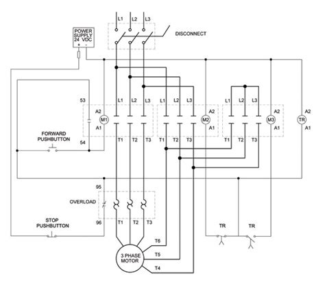 motor starter wiring diagram start stop wiring diagram