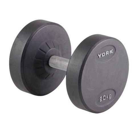 Dumbell 20 Kg York 20kg Pro Style Dumbbell Sweatband