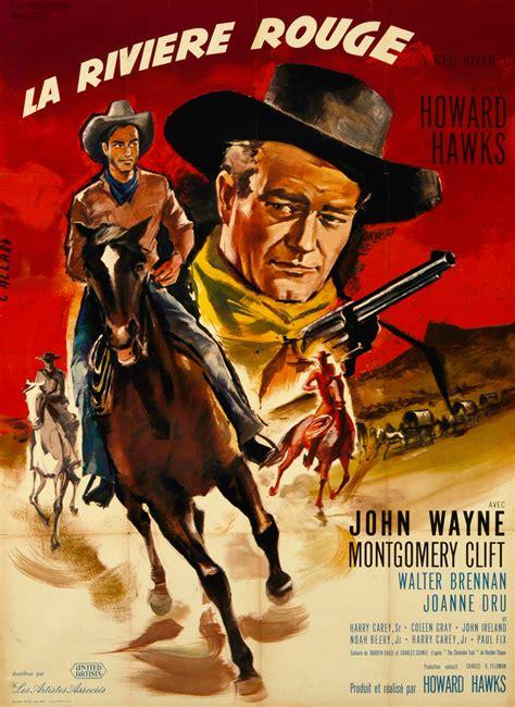 film western john wayne in italiano red river orig movie poster john wayne french 47 x 63