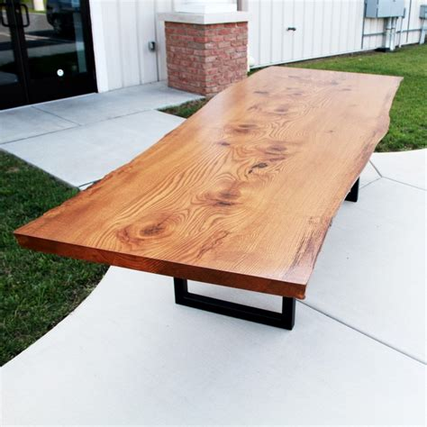 Kitchen Cabinets Made To Order by Live Edge Pin Oak Table Solid Hardwood Furniture