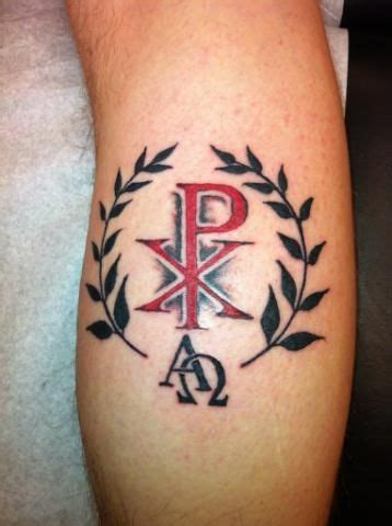 christian symbol tattoo designs my next the chi rho tattoos