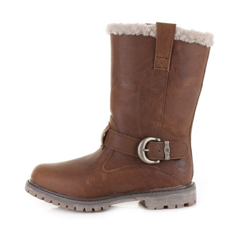 Timberland Boots 05 womens timberland nellie pull on tobacco leather