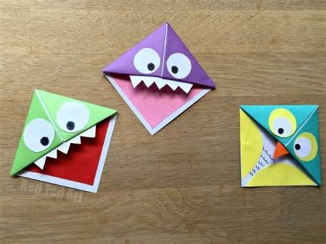 Origami Monsters - 25 best ideas about bookmark on