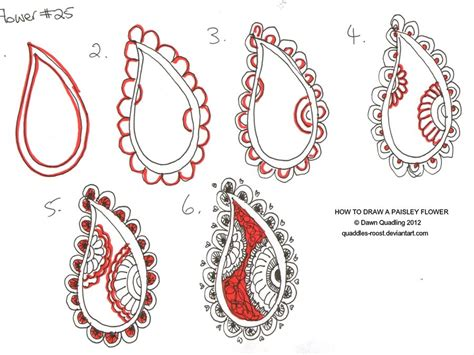 doodle flowers tutorial drawing on paisley how to draw and zentangle