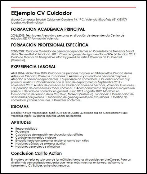 curso de enfermera 2017 precio sueldo y funciones ejemplo cv cuidador micvideal