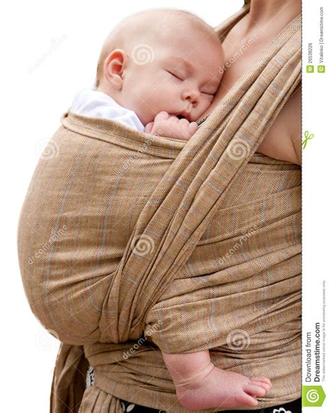 best baby sling for newborn newborn baby sleeping in a sling royalty free stock image