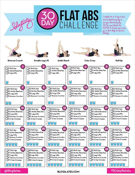 Calendar 30 Days From Today 30 Day Flat Abs Challenge Fitness Friday Paperblog