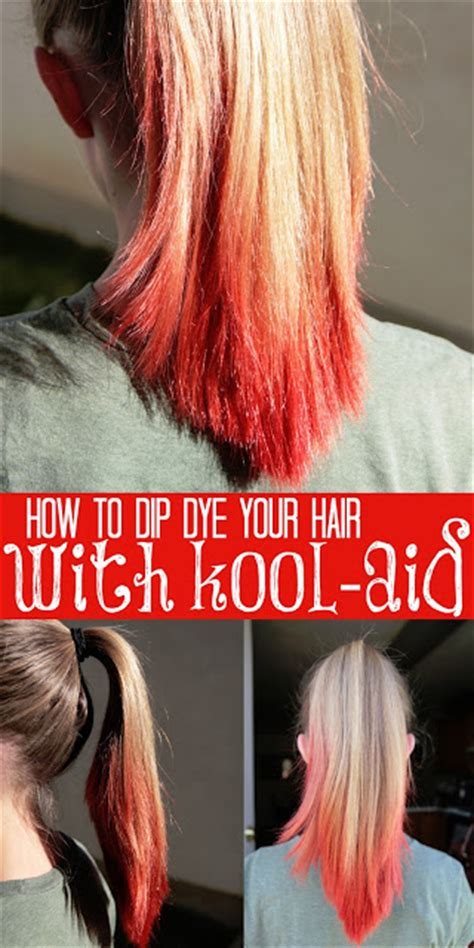 7 Tips For Dying Your Hair Brown by How To Dip Dye Your Hair With Kool Aid Tips From A