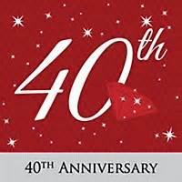 40th anniversary personalized wedding anniversary return