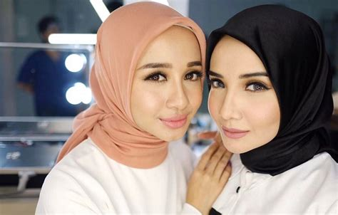 tutorial jilbab segi empat laudya chintya bella inspirasi gaya hijab untuk lebaran ala zaskia sungkar