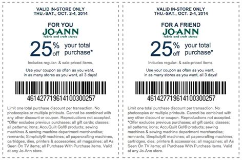 printable fabric coupons joann fabrics coupons www imgkid com the image kid has it