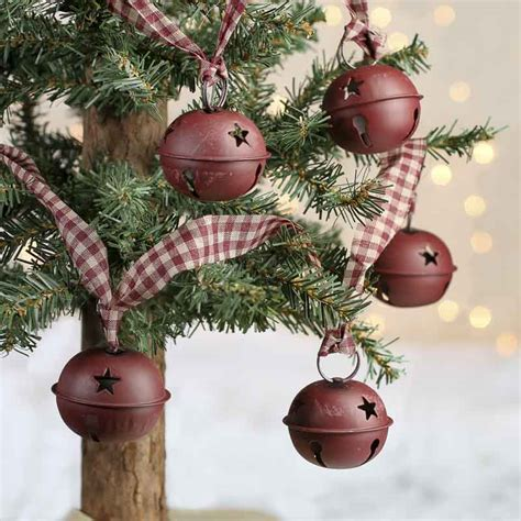 Large Rustic Burgundy Sleigh Bells Garland   Christmas and