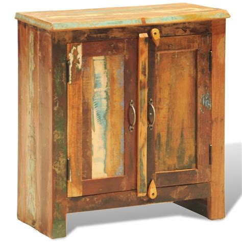 Vintage Cabinet Doors Vidaxl Co Uk Reclaimed Wood Cabinet With Two Doors Vintage Antique Style