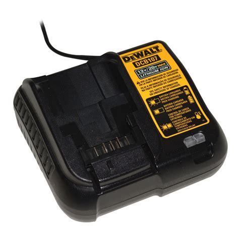 dewalt 12v battery charger dewalt dcb107r 12v 20v max lithium ion battery charger