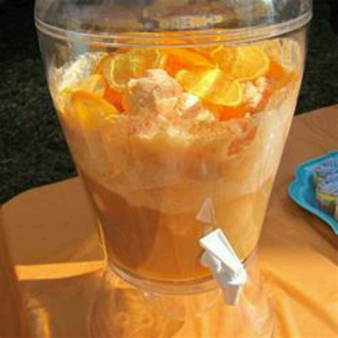 dreamy orange sherbet punch recipe dishmaps