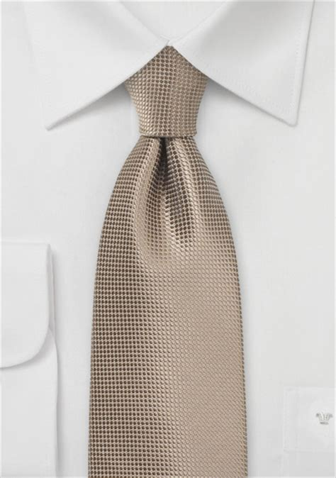 taupe colored necktie with textured weave ties shop