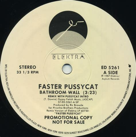 bathroom wall faster pussycat faster pussycat bathroom wall vinyl at discogs