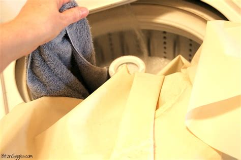 washing curtains in washing machine how to clean a vinyl shower curtain bitz giggles