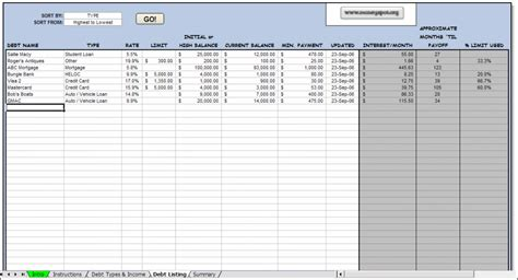 Debt Payoff Spreadsheet by Monthly Payment Calculator Search Results Calendar 2015