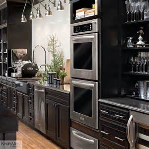 Kitchen Maid Cabinets kraftmaid maple kitchen cabinetry in onyx contemporary