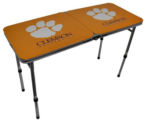 clemson tigers tailgate table clemson tigers folding aluminum tailgate table