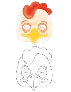 printable chicken mask