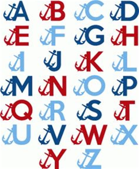 free nautical printable letters nautical border borders clip art fonts more