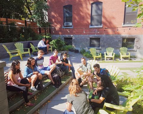 tiny house community celebrates 1 year anniversary mcgill notman partnership celebrates one year anniversary
