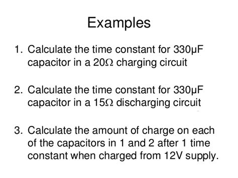 capacitor discharge time constant calculator calculating capacitor time constant 28 images capacitor time constant rc circuit