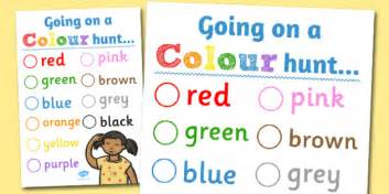 color hunt colour hunt worksheet colour hunt worksheet activity