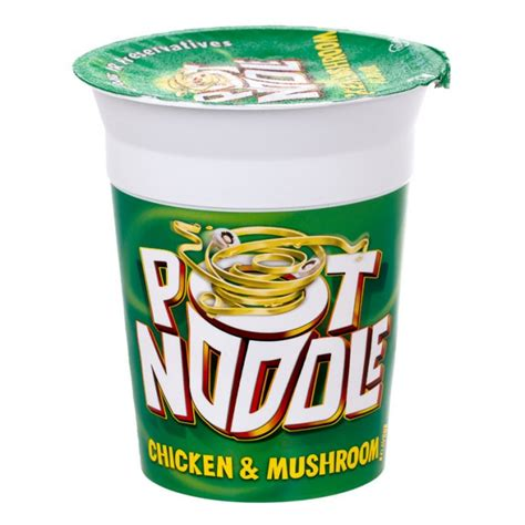 Animal Planters by Pot Noodle Chicken And Mushroom 90g Poundstretcher