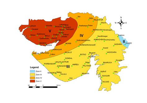 Earthquake Zone In Gujarat | seismic zoning map of gujarat official website of