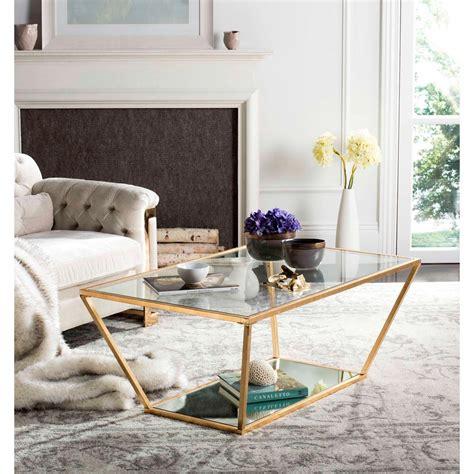 safavieh gold coffee table safavieh allene glass gold leaf retro coffee table