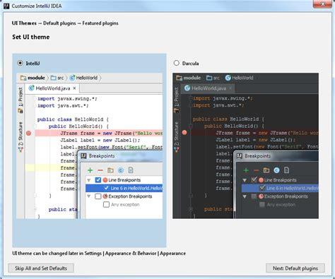 html ui themes install and set up intellij idea help intellij idea