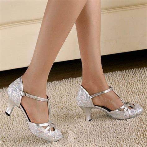 Sandal Kitten Heels Pita Glitter Silver Bs 002 minishion qj6133 womens kitten heel silver glitter salsa ballroom t