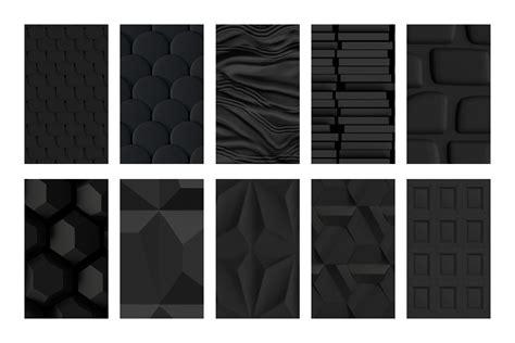 pattern photoshop black 3d patterns matte black edition designercandies