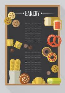 menu design eps file bakery menu card vector image 1419532 stockunlimited