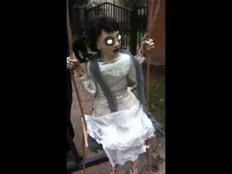 zombie girl swing animated prop new animated animatronic swing zombie girl sings creepy
