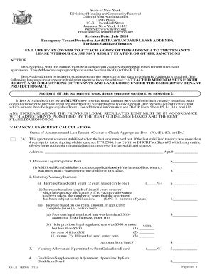 Ralr 1 Rider Fill Online Printable Fillable Blank Pdffiller Lease Rider Template