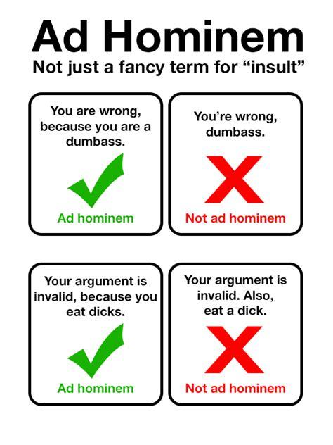 argumentum ad hominem logical fallacies