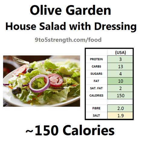 olive garden salad calories how many calories in olive garden