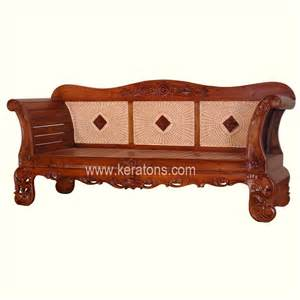rattan back wooden carved sofa balikpapan furniture