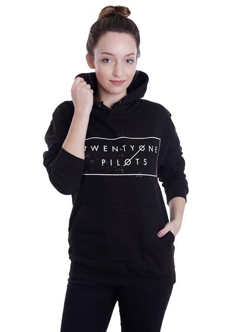 Hoodie Twenty One Pilot 1 1 twenty one pilots thin line box hoodie official merchandise shop impericon uk