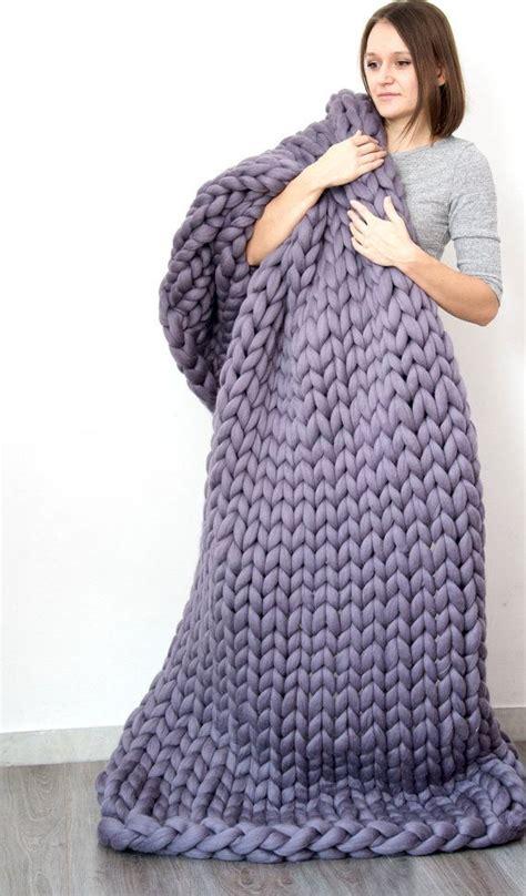 Decke Grobstrick by Die Besten 25 Grobstrick Decken Ideen Auf