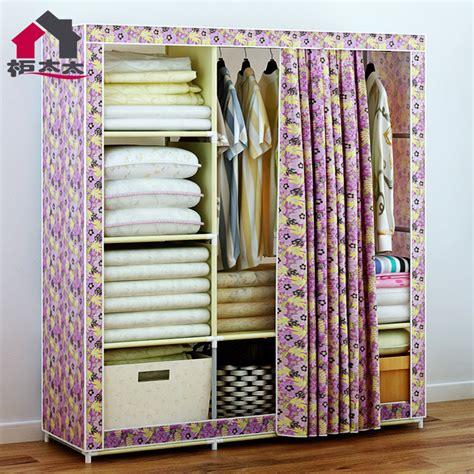 Cheap Fabric Wardrobes by Easy Storage Closet Oxford Cloth Fabric Large Wardrobe