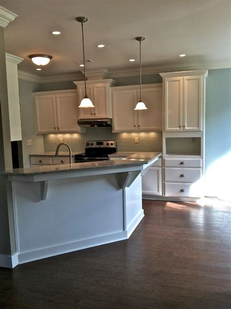 Angled Kitchen Cabinets by White Cabinets W Angled Peninsula Traditional Kitchen