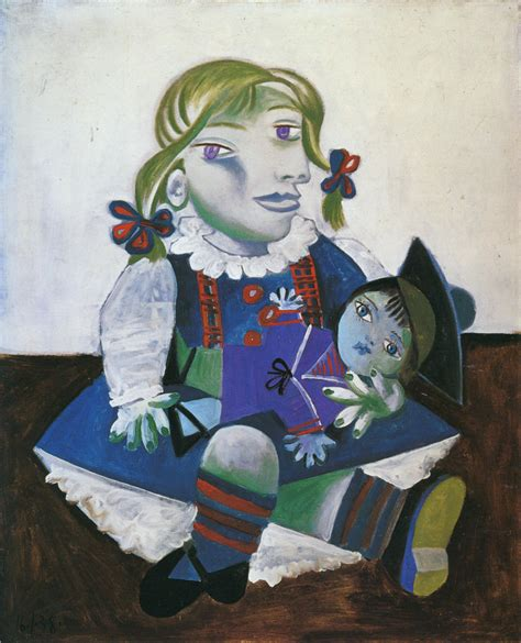 picasso paintings with doll paintingdb 174 picasso pablo with a doll