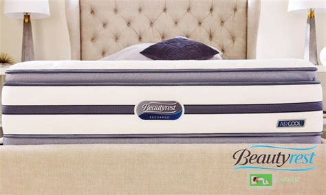 Simmons Beautyrest Recharge Sunset Oaks Plush Pillow Top Mattress Set by Simmons Pillow Top Mattress Set Groupon Goods