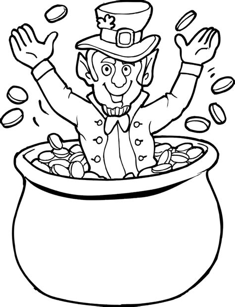 printable coloring pages leprechaun leprechaun pot of gold coloring pages