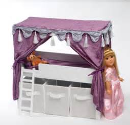 doll canopy bed storage set fits american 18 quot inch